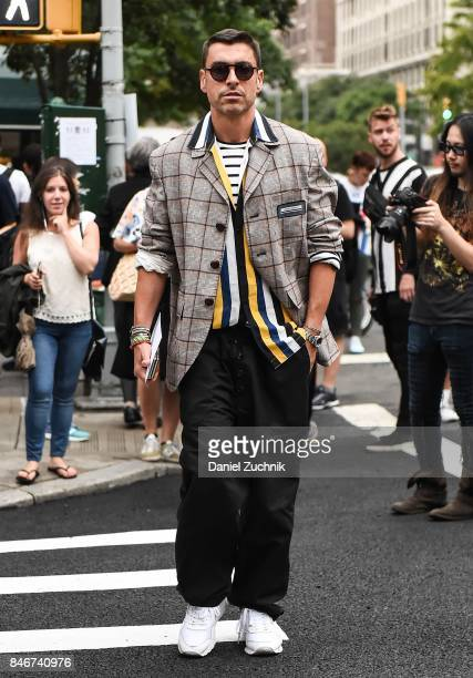 Alex Badia is seen outside the Marc Jacobs show during New York Fashion Week Women's S/S 2018 on September 13 2017 in New York City