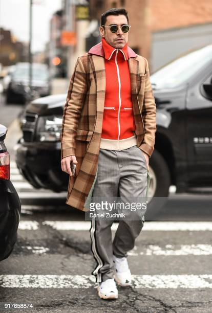 Alex Badia is seen outside the Ralph Lauren show during New York Fashion Week Women's A/W 2018 on February 12 2018 in New York City
