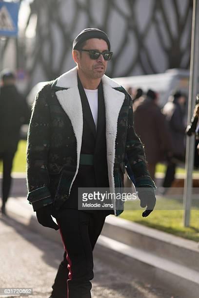 Alex Badia of WWD during Milan Men's Fashion Week Fall/Winter 2017/18 on January 14 2017 in Milan Italy