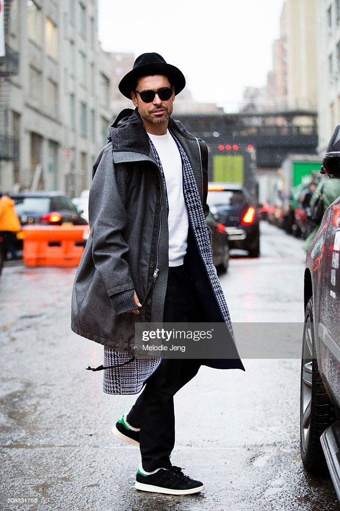 Street Style - Day 3 - New York Fashion Week: Men's Fall/Winter 2016 : News Photo
