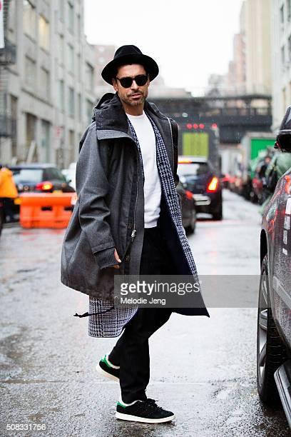 Alex Badia of WWD during New York Fashion Week Men's Fall/Winter 2016 on February 3 2016 in New York City