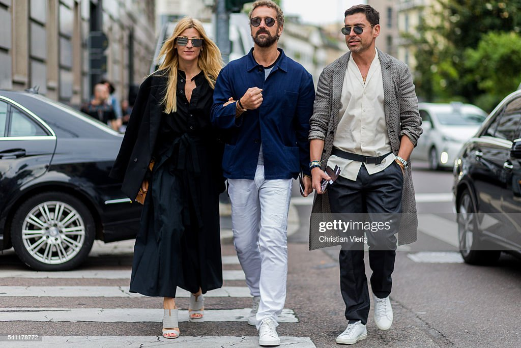 Street Style: June 18 - Milan Men's Fashion Week Spring/Summer 2017 : Nachrichtenfoto