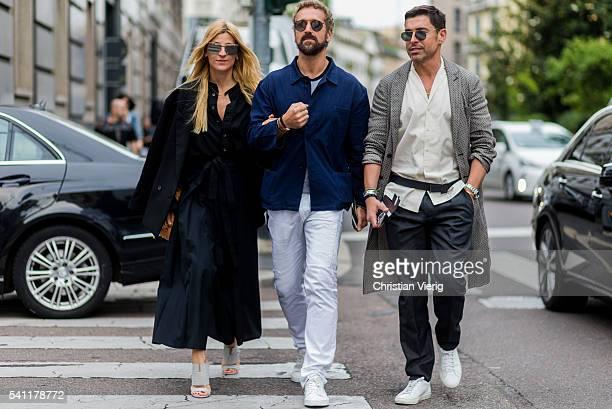 Alex Badia outside Neil Barrett during the Milan Men's Fashion Week Spring/Summer 2017 on June 18 2016 in Milan Italy
