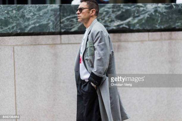 Alex Badia seen in the streets of Manhattan outside Gabriela Hearst during New York Fashion Week on September 12 2017 in New York City