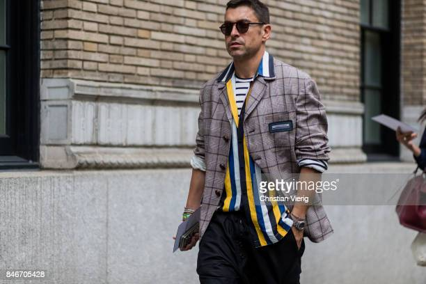 Alex Badia seen in the streets of Manhattan outside Marc Jacobs during New York Fashion Week on September 13 2017 in New York City