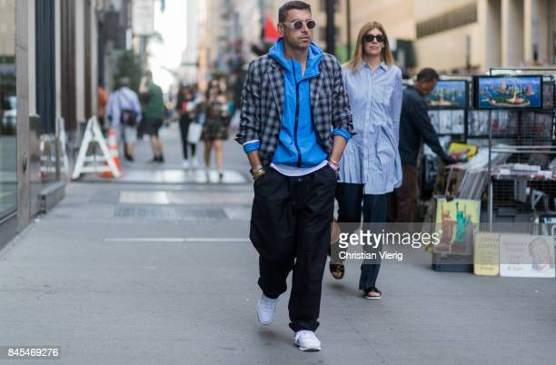 Alex Badia seen in the streets of Manhattan outside Victoria Beckham during New York Fashion Week on September 10 2017 in New York City
