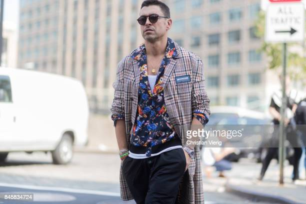 Alex Badia seen in the streets of Manhattan outside Zimmermann during New York Fashion Week on September 11 2017 in New York City