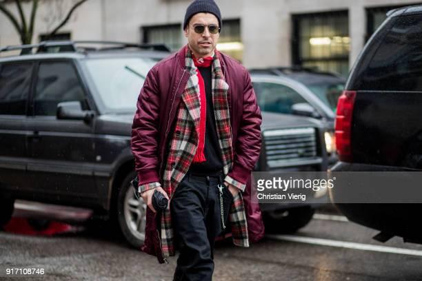 Alex Badia seen outside Victoria Beckham on February 11 2018 in New York City