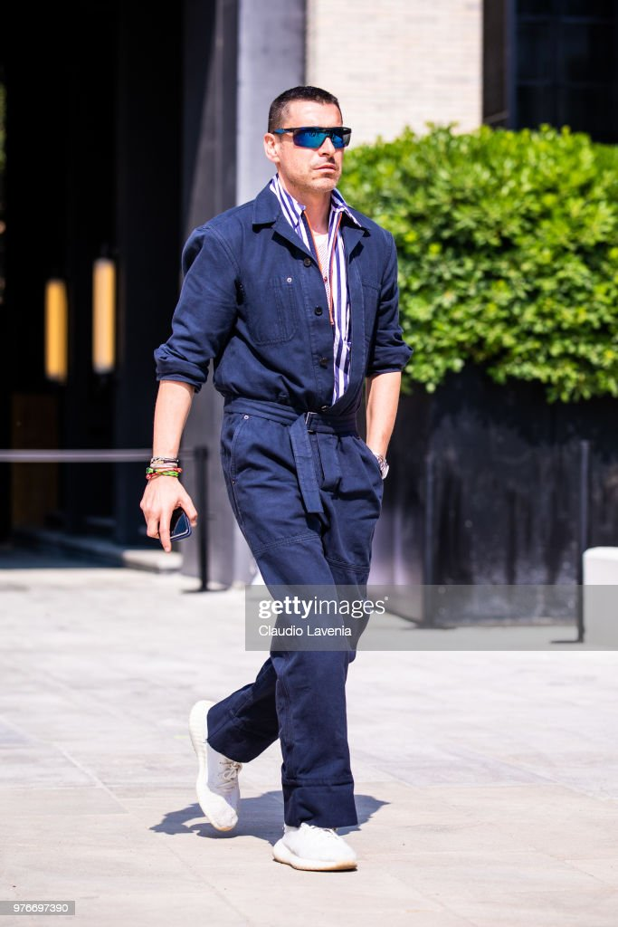 Street Style: June 16 - Milan Men's Fashion Week Spring/Summer 2019 : News Photo