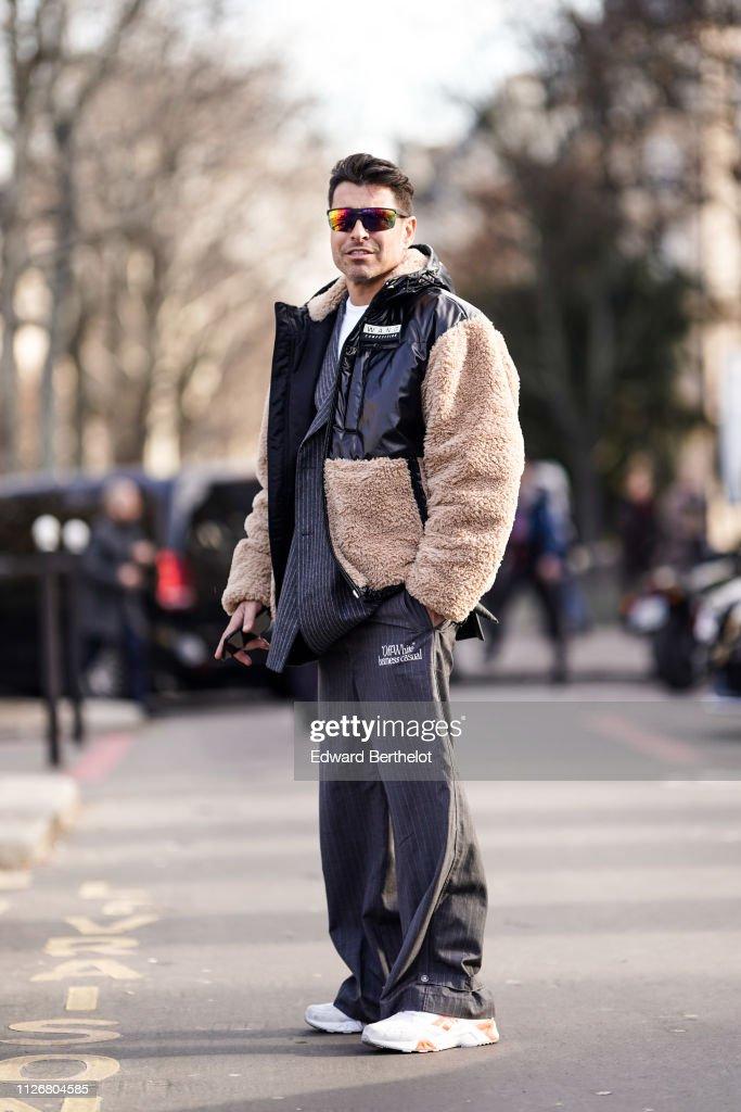 Street Style - Paris Fashion Week - Menswear F/W 2019-2020 : Day Four : News Photo