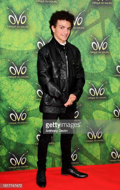 Alex Bain attends the Cirque Du Soleil's OVO Premiere at The Liverpool Echo Arena on August 16 2018 in Liverpool England