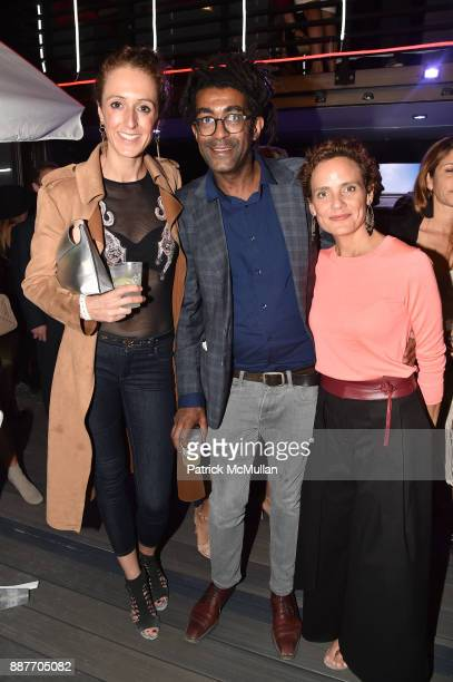 Alex Bain Frederick Bordey and Gina Calventi attend Faena Forum Opening Night at Faena Hotel on December 4 2017 in Miami Beach Florida