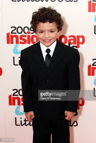 Alex Bain poses in the media room at the Inside Soap Awards 2009 at Sketch on September 28 2009 in London England