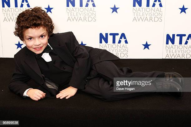 Alex Bain poses in the press room at the National Television Awards held the at The O2 Arena on January 20 2010 in London England