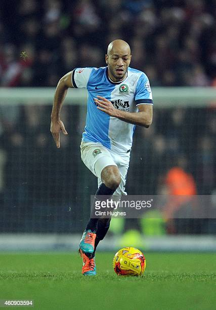 Alex Baptiste of Blackburn Rovers during the Sky Bet Championship match between Blackburn Rovers and Middlesbrough at Ewood Park on December 28 2014...