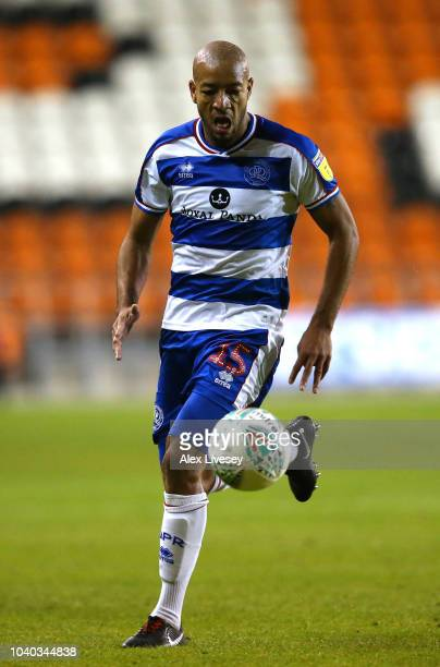 Alex Baptiste of Queens Park Rangers during the Carabao Cup Third Round match between Blackpool and Queens Park Rangers at Bloomfield Road on...