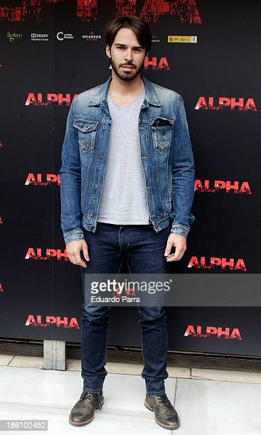 Alex Barahona attends 'Alpha' press conference photocall at Princesa cinema on October 28 2013 in Madrid Spain