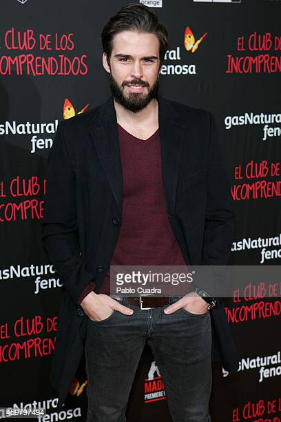 Alex Barahona attends 'El Club de los Incomprendidos' Premiere on December 1 2014 in Madrid Spain
