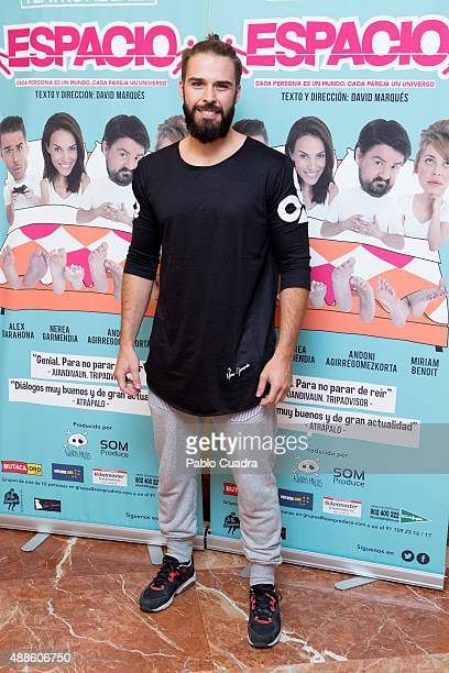 Alex Barahona attends the 'Espacio' premiere at 'Nuevo Alcala theatre on September 16 2015 in Madrid Spain