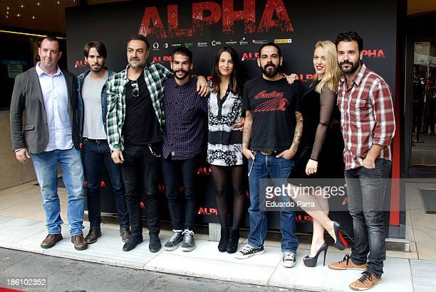 Alex Barahona Juan Carlos Vellido Xenia Tostado Joan Cutrina Daniela Blume and Miquel Fernandez attend 'Alpha' press conference photocall at Princesa...