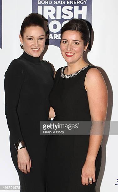 Alex Barclay and Jane Casey attend the Irish Book Awards at Double Tree Hilton Hotel on November 25 2015 in Dublin Ireland