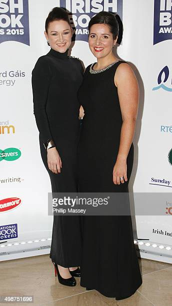 Alex Barclay and Jane Casey attend the Irish Book Awards at Double Tree Hilton Hotel on November 25 2015 in Dublin Ireland