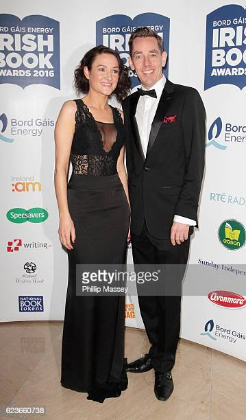 Alex Barclay and Ryan Tubridy attend the Bord Gais Energy Irish Book Awards at Double Tree Hilton Hotel on November 16 2016 in Dublin Ireland