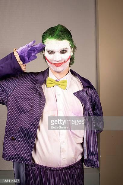 Alex Barrett as Joker attends Nashville Comic Con 2013 at Music City Center on October 19 2013 in Nashville Tennessee