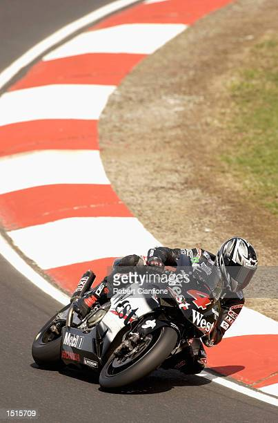 Alex Barros of Brazil and the West Honda Pons Team in action during free practice for the Skyy Vodka Australian Grand Prix which is Round 15 of the...
