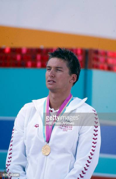Alex Baumann Men's Swimming 400 metre individual medley medal ceremony McDonald's Olympic Swim Stadium at the 1984 Summer Olympics July 30 1984