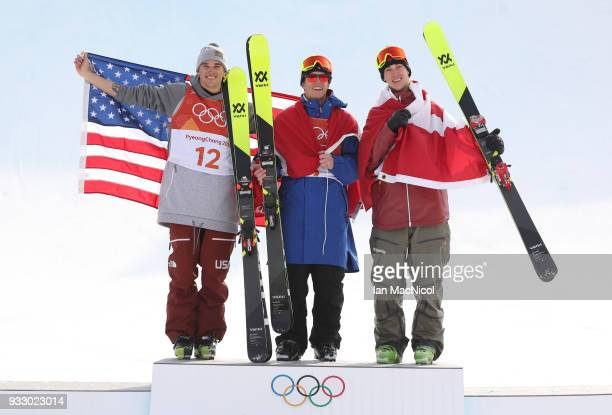 Alex BeaulieuMarchand of Canada is seen after winning Silver during the Freestyle Skiing Men's slopestyle Aerial Final on day nine of the PyeongChang...