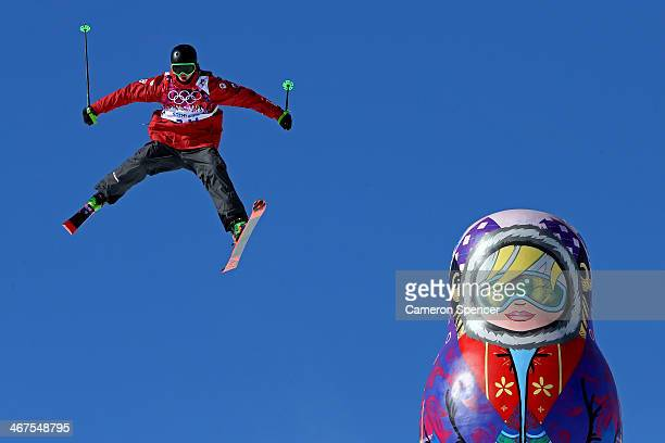 Alex BeaulieuMarchand of Canada trains during a Ski Slopestyle official training session ahead of the the Sochi 2014 Winter Olympics at Rosa Khutor...