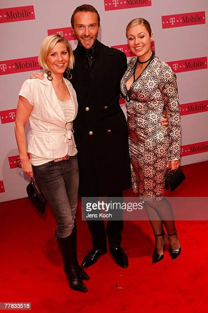 Alex Bechtel , television personality Ruth Moschner and a guest attend the iPhone Launch Party at the RheinTriadem November 9, 2007 in Cologne,...