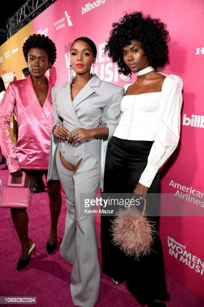 Alex Belle Janelle Monae and Isis Valentino attend Billboard Women In Music 2018 on December 6 2018 in New York City
