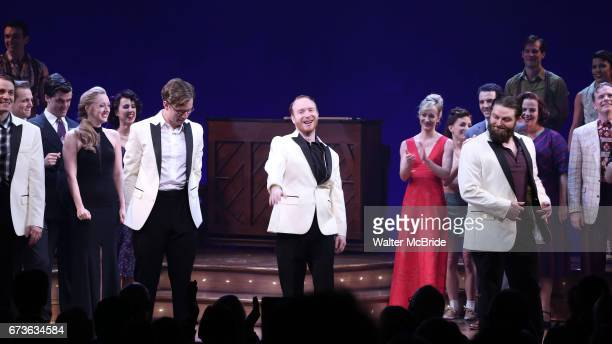 Alex Bender during the Broadway opening night curtain call bows of 'Bandstand' at the Bernard B Jacobs Theatre on 4/26/2017 in New York City
