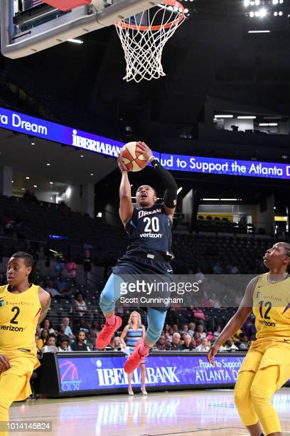 Alex Bentley of the Atlanta Dream goes to the basket against the Los Angeles Sparks on August 9 2018 at the McCamish Pavilion in Atlanta Georgia NOTE...
