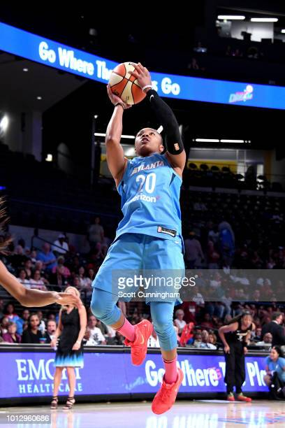 Alex Bentley of the Atlanta Dream shoots the ball during the game against the Las Vegas Aces on August 07 2018 at McCamish Pavilion in Atlanta...