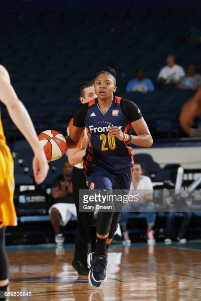 Alex Bentley of the Connecticut Sun handles the ball against the Chicago Sky on May 28 2017 at the Allstate Arena in Rosemont Illinois NOTE TO USER...