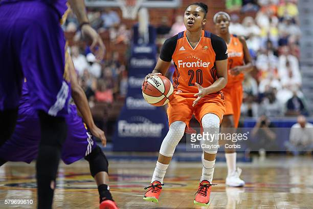 Alex Bentley of the Connecticut Sun in action during the Los Angeles Sparks Vs Connecticut Sun WNBA regular season game at Mohegan Sun Arena on July...