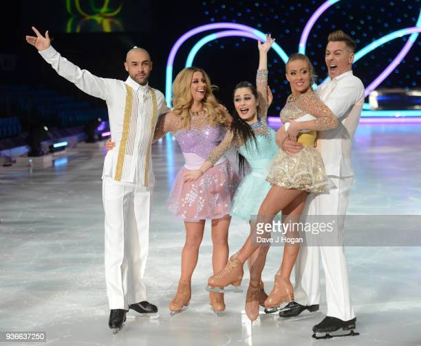 Alex Beresford Alex Murphy Vanessa Bauer Brianne Delcourt and Matt Evers attend the press launch photocall for the Dancing on Ice Live Tour at...