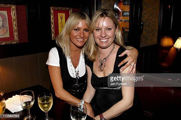 Alex Best and Jo Pursey attend the Hard Rock Cafe Christmas Lighting Ceremony on November 27 2007 in London