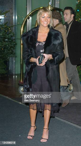 Alex Best during Sparks Charity Christmas Ball at London Hilton in London Great Britain