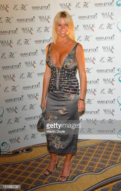 Alex Best during Walk With Cancer Ball Outside Arrivals at The Ballroom at The Savoy in London Great Britain