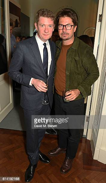 Alex Bilmes and Oliver Spencer attend the launch of the Esquire Townhouse with Dior on October 12 2016 in London England
