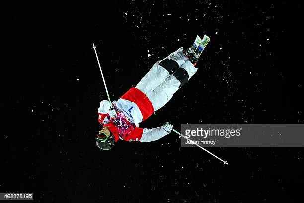 Alex Bilodeau of Canada competes in the Men's Moguls Finals on day three of the Sochi 2014 Winter Olympics at Rosa Khutor Extreme Park on February 10...