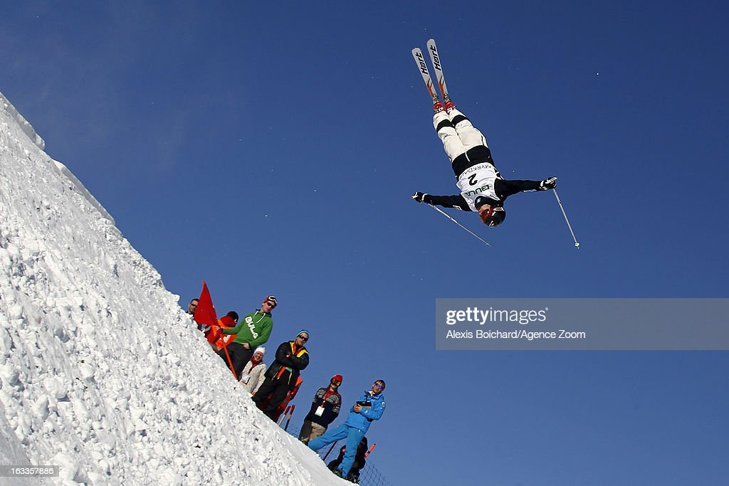 Alex Bilodeau of Canada takes 1st place during the FIS Freestyle Ski World Championship Men's and Women's Dual Moguls on March 08, 2013 in Voss, Norway.
