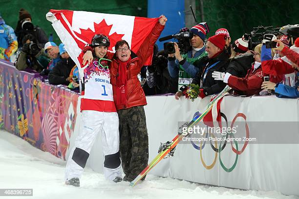 Alex Bilodeau of Canada takes 1st place during the Freestyle Skiing Men's Moguls at the Rosa Khutor Extreme Park on February 10 2014 in Sochi Russia