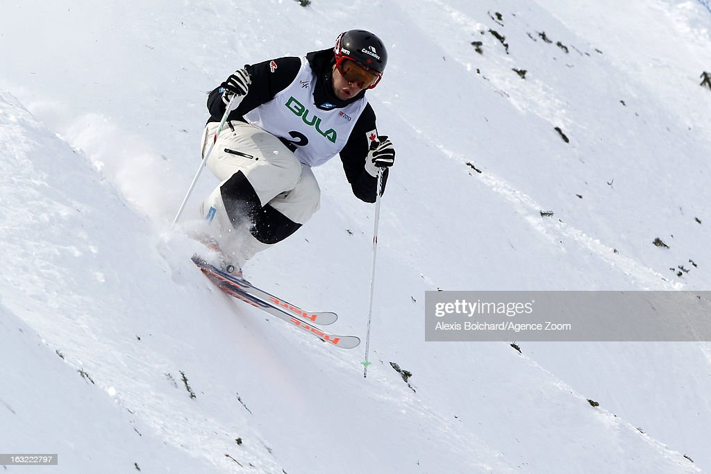 Alex Bilodeau of Canada takes 2nd place during the FIS Freestyle Ski World Championship Men's and Women's Moguls on March 06, 2013 in Voss, Norway.