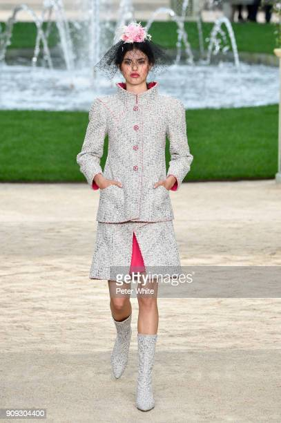 Alex Binaris walks the runway during the Chanel Spring Summer 2018 show as part of Paris Fashion Week on January 23 2018 in Paris France