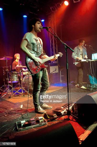 Alex Binnington Joe Todd and Jordan Fish of Proxies perform on stage at O2 Academy on January 7 2011 in Newcastle upon Tyne England